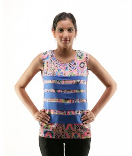 WOMEN PRINTED PINK TOP