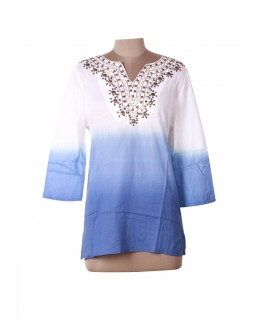 women sequins tunic top
