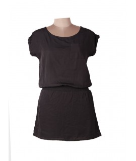 women black solid dress