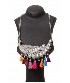 women multicolor bead necklaces