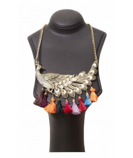 women peacock pendant necklace