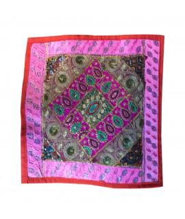jaipuri embroidery cushion cover
