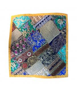jaipuri multi embroidery cushion cover