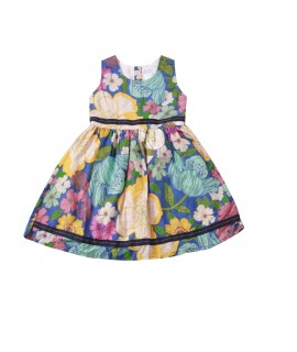 kids colorful floral print frock