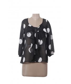 women dot printed top