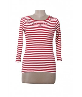 women striped & sequins top