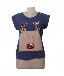 women cat face print top