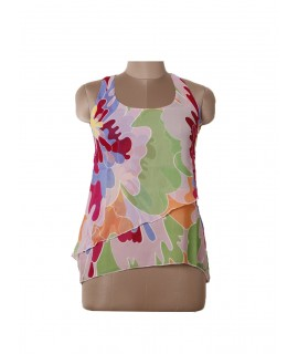 women colorful print top