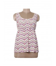 women zig zag printed top