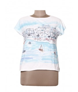 women village print top