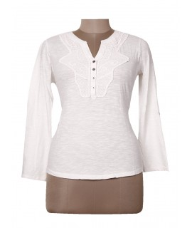 women white fancy lace top