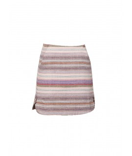 women striped cotton skirt