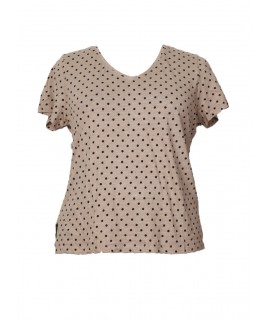 women casual black dot print top