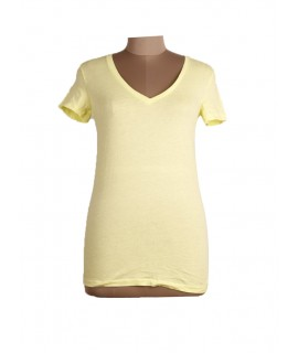 women solid yellow top
