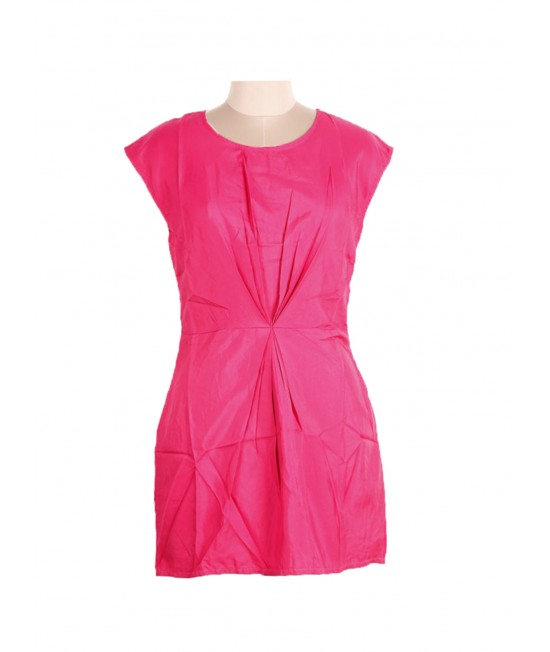 Wonen solid pink Dress