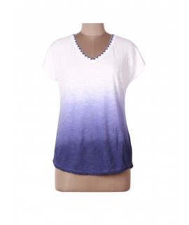 women tie dye print top