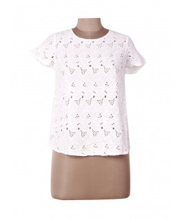 women cutwork embroidered top