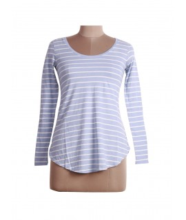women white striped top