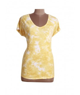 women tie dye printed top