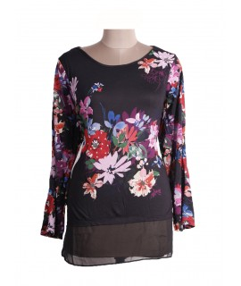 Women Floral & sequins top