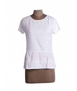 women white embroidered top