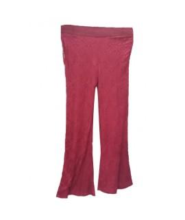 women maroon palazzo pant