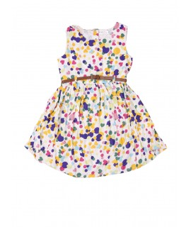 Kids Colorful Dot Print Frock