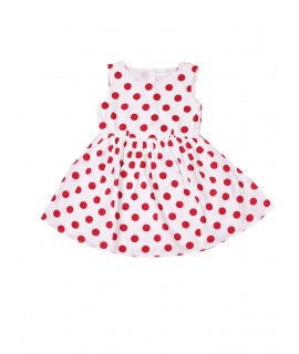 Kids Red Dot Print Frock