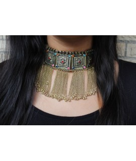 Afghan Gold Kuchi Tribal Necklace