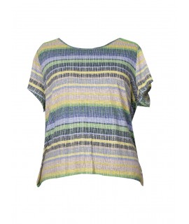 woman striped top