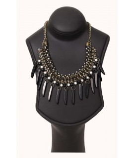 women black & gold necklaces