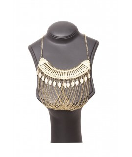 golden metal fancy necklace